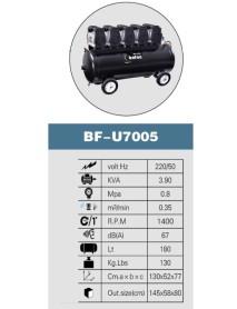 BOFON   KOMPRESSÖR   5  HP    180   LT   5-6  ÜNİTELİK