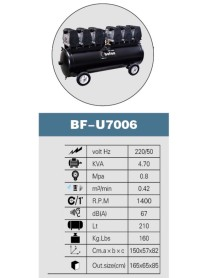 BOFON   KOMPRESSÖR   6  HP     210   LT   6-7  ÜNİTELİK