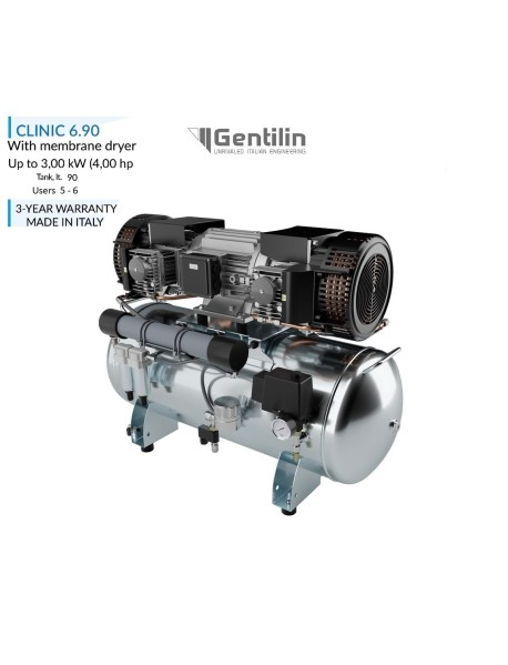 Gentilin Srl  Kompresör 4. Hp  5-6 Ünitelik  (  Dryerli )